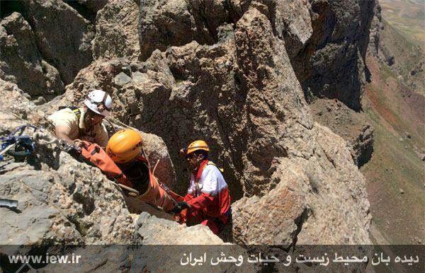 950310 khangormaz 4 با تلاش نیروهای هلال احمر، محیطبان همدانی از مردن و مرگ نجات یافت