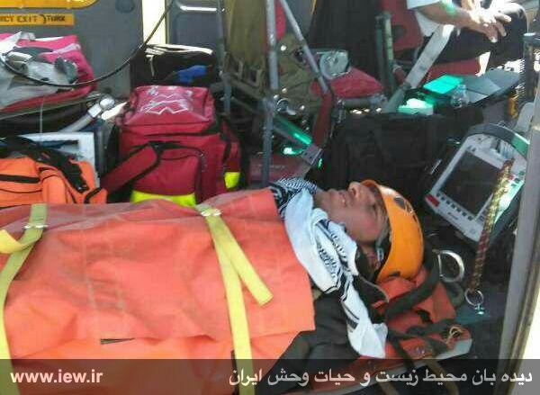 950310 khangormaz 8 با تلاش نیروهای هلال احمر، محیطبان همدانی از مردن و مرگ نجات یافت